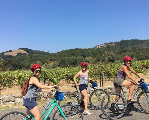 Sonoma Yoga and Wine Retreat 2017 - biking